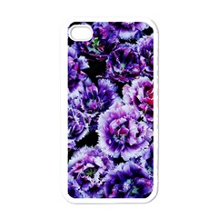 Purple Wildflowers Of Hope Apple iPhone 4 Case (White)