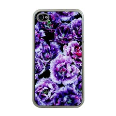 Purple Wildflowers Of Hope Apple iPhone 4 Case (Clear)