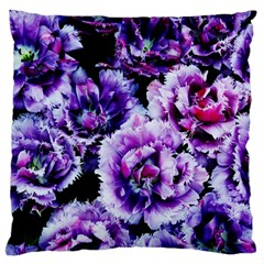 Purple Wildflowers Of Hope Large Cushion Case (Two Sided)