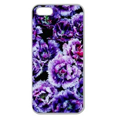 Purple Wildflowers Of Hope Apple Seamless iPhone 5 Case (Clear)
