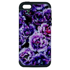 Purple Wildflowers Of Hope Apple iPhone 5 Hardshell Case (PC+Silicone)