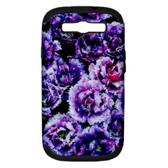 Purple Wildflowers Of Hope Samsung Galaxy S III Hardshell Case (PC+Silicone)