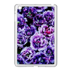 Purple Wildflowers Of Hope Apple Ipad Mini Case (white) by FunWithFibro