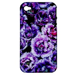 Purple Wildflowers Of Hope Apple iPhone 4/4S Hardshell Case (PC+Silicone)