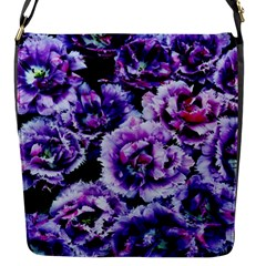 Purple Wildflowers Of Hope Flap Closure Messenger Bag (Small)