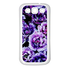 Purple Wildflowers Of Hope Samsung Galaxy S3 Back Case (White)