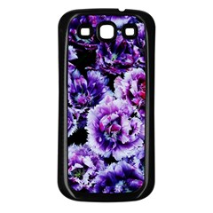 Purple Wildflowers Of Hope Samsung Galaxy S3 Back Case (Black)