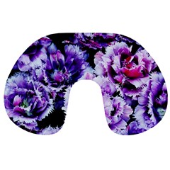 Purple Wildflowers of Hope Travel Neck Pillow