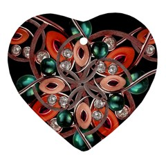 Luxury Ornate Artwork Heart Ornament by dflcprints