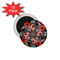 Luxury Ornate Artwork 1 75  Button Magnet (10 Pack) by dflcprints
