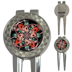 Luxury Ornate Artwork Golf Pitchfork & Ball Marker by dflcprints