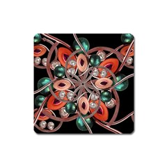 Luxury Ornate Artwork Magnet (square) by dflcprints