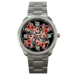 Luxury Ornate Artwork Sport Metal Watch by dflcprints