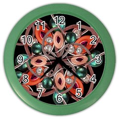 Luxury Ornate Artwork Wall Clock (color)