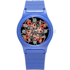 Luxury Ornate Artwork Plastic Sport Watch (small) by dflcprints