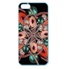 Luxury Ornate Artwork Apple Seamless Iphone 5 Case (color) by dflcprints