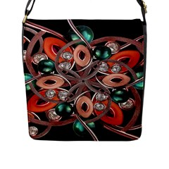 Luxury Ornate Artwork Flap Closure Messenger Bag (large) by dflcprints
