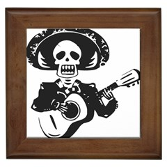 Day Of The Dead Framed Ceramic Tile by EndlessVintage