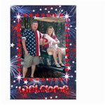 Patriotic Welcome flag, large - Large Garden Flag (Two Sides)