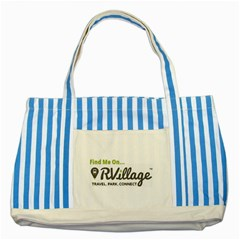 Rvillage Blue Striped Tote Bag by RVillage