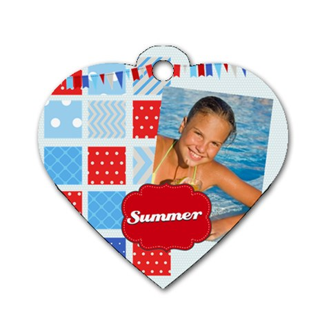 Summer By Summer Time    Dog Tag Heart (one Side)   T7yu7rojt6dg   Www Artscow Com Front