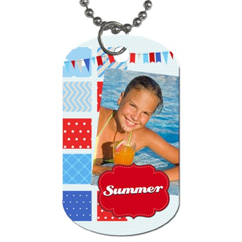 Summer By Summer Time    Dog Tag (one Side)   Qxs8fjolh3aj   Www Artscow Com Front
