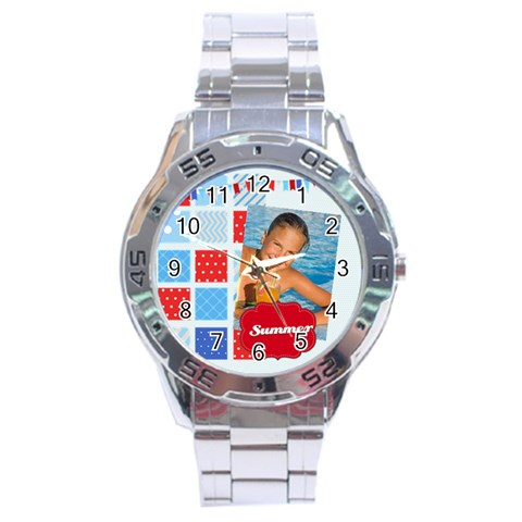 Summer By Summer Time    Stainless Steel Analogue Watch   Orgf6bnk6tq9   Www Artscow Com Front