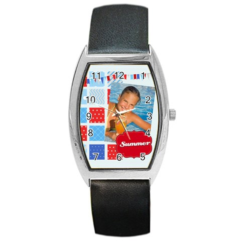 Summer By Summer Time    Barrel Style Metal Watch   5vjeebn7fzb9   Www Artscow Com Front