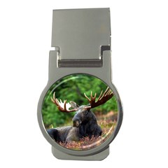 Majestic Moose Money Clip (round) by StuffOrSomething