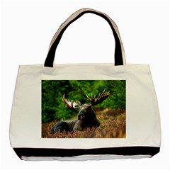 Majestic Moose Twin Sided Black Tote Bag by StuffOrSomething