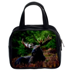 Majestic Moose Classic Handbag (two Sides) by StuffOrSomething
