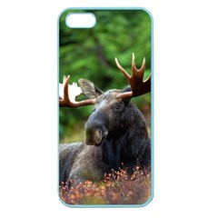 Majestic Moose Apple Seamless Iphone 5 Case (color) by StuffOrSomething
