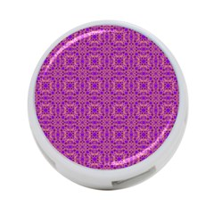 Purple Moroccan Pattern 4-Port USB Hub (Two Sides) by SaraThePixelPixie
