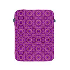 Purple Moroccan Pattern Apple Ipad Protective Sleeve by SaraThePixelPixie