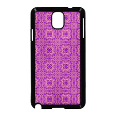 Purple Moroccan Pattern Samsung Galaxy Note 3 Neo Hardshell Case (black) by SaraThePixelPixie