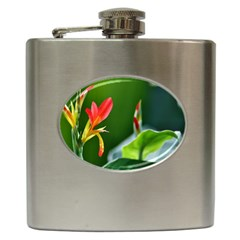 Lily 1 Hip Flask by Cardsforallseasons