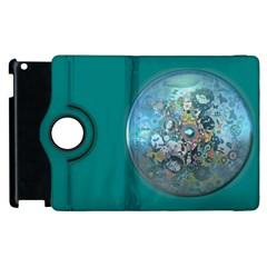 Led Zeppelin Iii Digital Art Apple Ipad 3/4 Flip 360 Case by SaraThePixelPixie