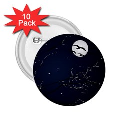 Night Birds And Full Moon 2 25  Button (10 Pack) by dflcprints