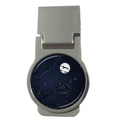 Night Birds And Full Moon Money Clip (round) by dflcprints