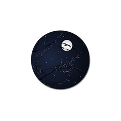 Night Birds And Full Moon Golf Ball Marker 4 Pack by dflcprints