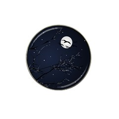 Night Birds And Full Moon Golf Ball Marker (for Hat Clip)
