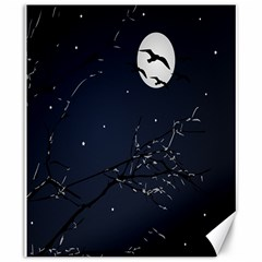 Night Birds And Full Moon Canvas 20  X 24  (unframed) by dflcprints