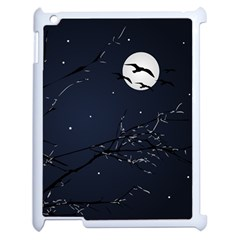 Night Birds And Full Moon Apple Ipad 2 Case (white)