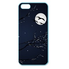Night Birds and Full Moon Apple Seamless iPhone 5 Case (Color) by dflcprints