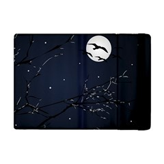 Night Birds And Full Moon Apple Ipad Mini Flip Case