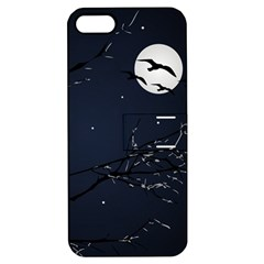 Night Birds And Full Moon Apple Iphone 5 Hardshell Case With Stand by dflcprints