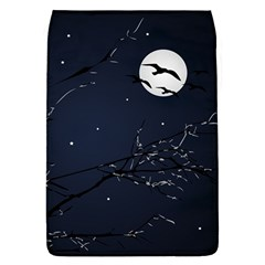Night Birds And Full Moon Removable Flap Cover (large)