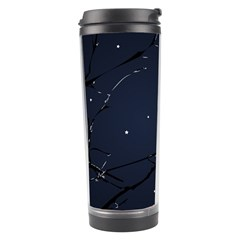 Night Birds And Full Moon Travel Tumbler