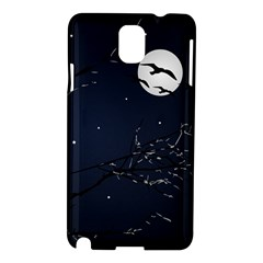 Night Birds And Full Moon Samsung Galaxy Note 3 N9005 Hardshell Case by dflcprints