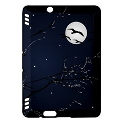 Night Birds And Full Moon Kindle Fire Hdx 7  Hardshell Case by dflcprints